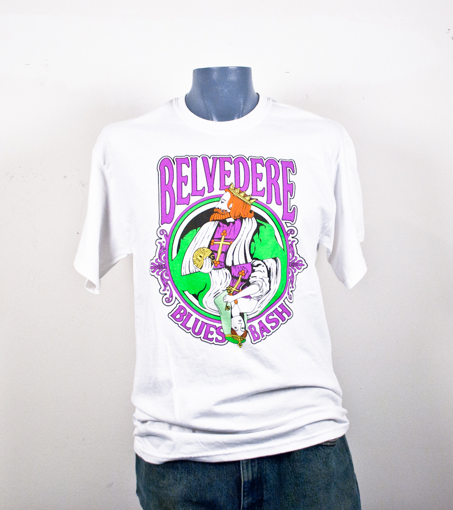 Belvedere Blues Bash T-shirts Screen Printing